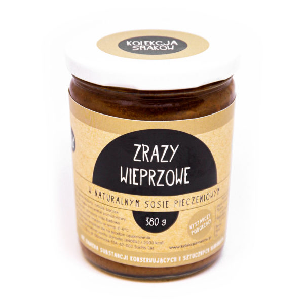 zrazy wieprzowe w naturalnym sosie pieczeniowym
